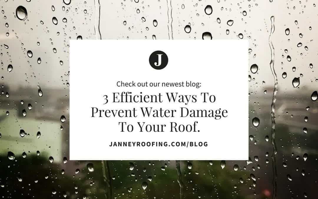 3 Efficient Ways to Prevent Water Damage to your Roof!
