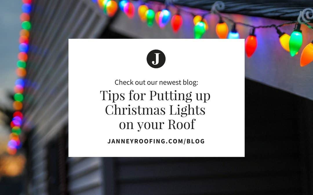 Tips for Putting up Christmas Lights on your Roof